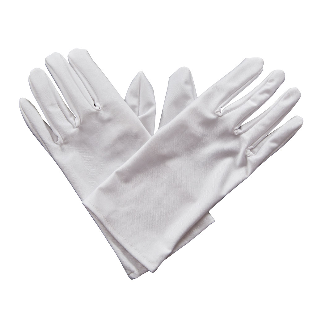Gents White Magician Gloves for Circus Act Performer Fancy Dress