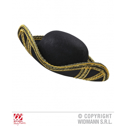 TRICORN HAT FELT Accessory for Pirate Dick Turpin Fancy Dress