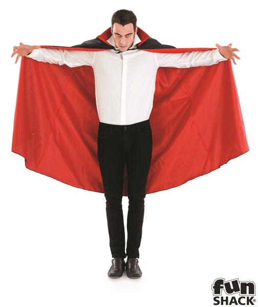 Mens Black Vampire Cape for Halloween Dracula Fancy Dress Accessory