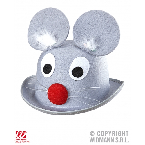 MOUSE BOWLER Hat Accessory for Animal Creature Mickey Danger Mighty Fancy Dress