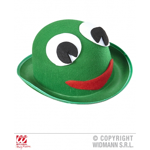 FROG BOWLER Hat Accessory for Toad Amphibian Animal Fancy Dress