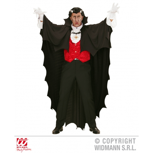 VAMPIRE CAPE 150cm Accessory for Dracula Vamp Halloween Fancy Dress