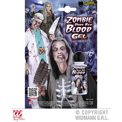 GEL ZOMBIE DARK RED BLOOD SFX for TWD Halloween Living Walking Dead Cosmetics