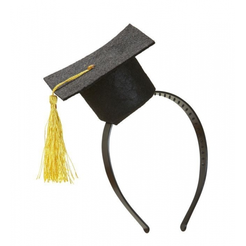 MINI GRADUATION HAT HEADBAND for Graduate Grad Prom Party