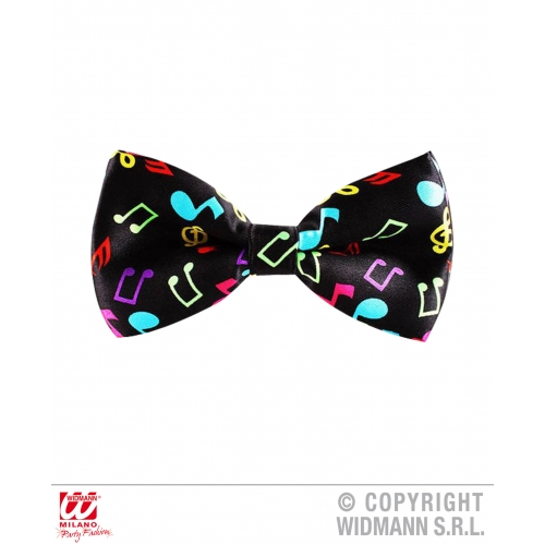 80s 90s MUSIC NOTE BOW TIE Decoration for 80s Disco Pop Retro Party