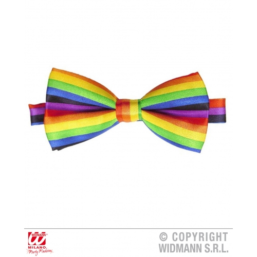 BOW TIE CLOWN RAINBOW TIE Decoration for Circus FunFair Parade Party