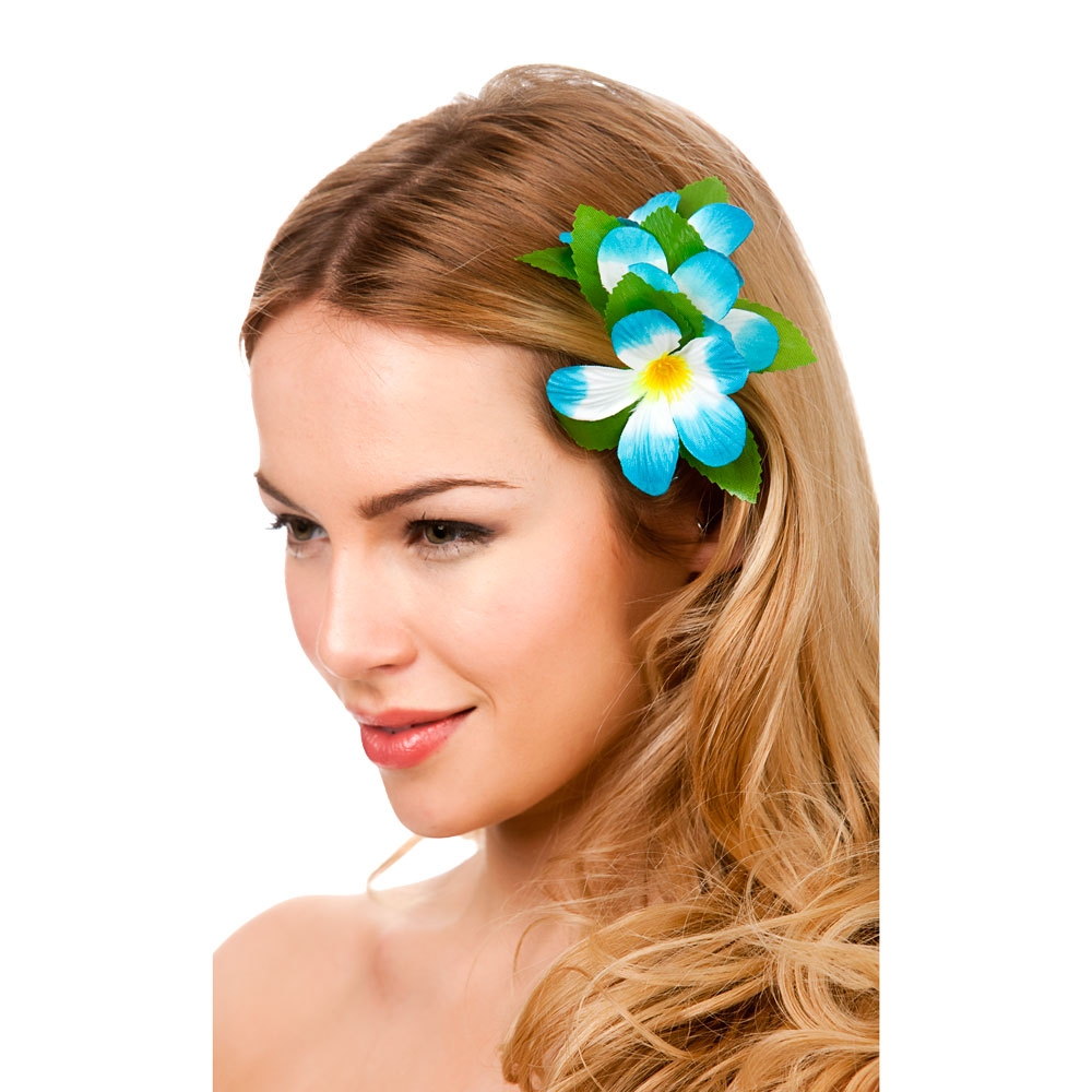 Hawaii Flower Hair Clip Outfit Accessory For Hawaiian Fancy Dress