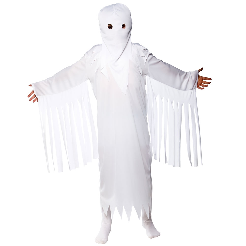 boys ghastly ghost halloween costume for fancy dress childrens kids childs