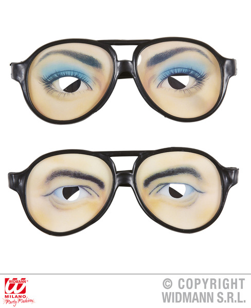 CLOWN FUNNY GLASSES woman/man Accessory for Circus FunFair Parade Fancy Dress