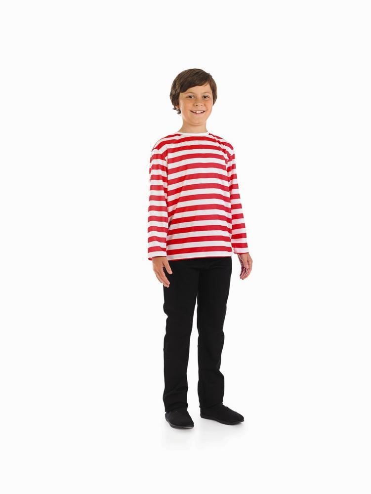 Boys Striped Jumper Costume Wally Book Week Fairytale Character Fancy Dress