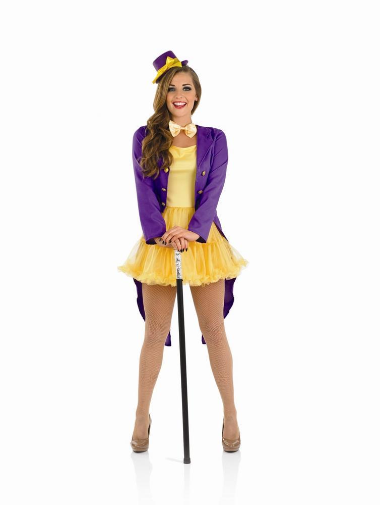 Ladies Wonka Factory Owner Costume Book Week Fairytale Character Fancy Dress