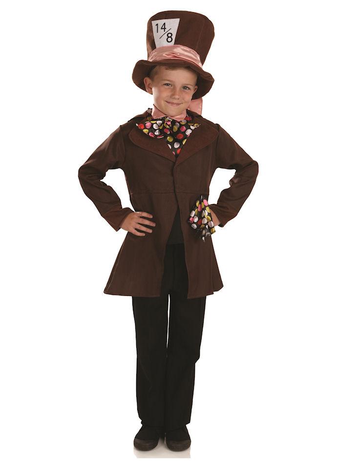 Boys Little Hatter Costume Wonderland Mad Fancy Dress