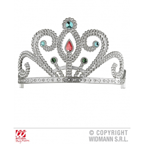TIARA WITH GEMS Hat Accessory for Princess Fairy Queen Fancy Dress