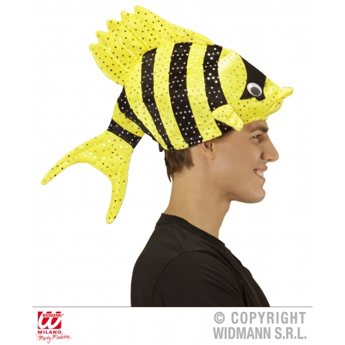 TROPICAL FISH HAT Accessory for Hawaiian Beach Summer Fancy Dress