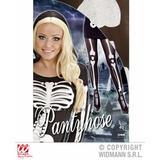 Ladies SKELETON PANTYHOSE for Living Dead Halloween Skull Pirates Fancy Dress