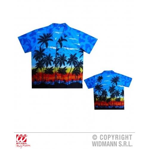 Mens PALM BEACH HAWAIIAN SHIRT Accessory for Tropical Summer Fancy Dress