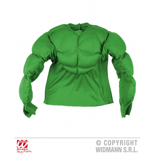 Boys GREEN SUPER MUSCLE SHIRT SFX for Superhero Cosmetics