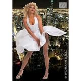 Ladies MARILYN Costume for 40s 50s Hollywood Glamour Fancy Dress Outfit
