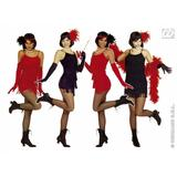 Ladies FLAPPER Costume for 20s 30s Gangsters Moll Fancy Dress Outfit