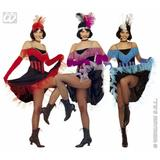 Ladies CAN CAN GIRL Costume for French Moulin Rouge Burlesque Fancy Dress Outfit