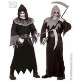 Mens SKULL FIGHTER Costume Skeletal Head Skeleton Halloween Pirate Fancy Dress