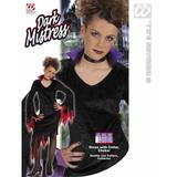 Girls DEVIL DARK MISTRESS Costume Satan Demon Halloween Fancy Dress