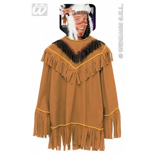 Mens INDIAN COAT Accessory for Native Wild West American Cowboys Fancy Dress