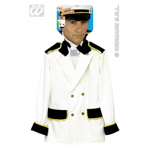 Mens CAPTAIN JACKET Accessory for Commander General Commadore Fancy Dress