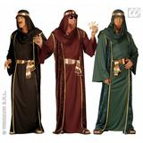 Mens ARAB SHEIK Costume for Aladdin Prince Arabian Fancy Dress Outfit