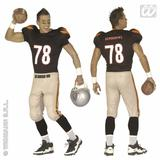 Mens AMERICAN FOOTBALLER Costume USA America United States Fancy Dress