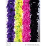FEATHER BOA BICOLOUR 180cm Accessory for Flapper Molls Chorus Fancy Dress Party