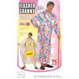 Ladies FLASHER GRANNY Costume for Mac Overcoat Pervert Fancy Dress Outfit