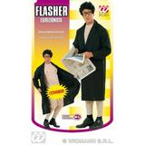 Mens FLASHER MAN Costume for Mac Overcoat Pervert Fancy Dress Outfit