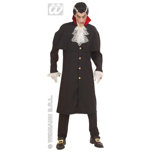 Mens COUNT DRACULA HEAVY FABRIC Costume Vampire Bat Halloween Fancy Dress