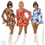 Ladies 70s CHICK Costume for 70s Disco Hippie Fancy Dress Outfit