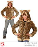 Mens LEOPARD Costume for Spotty Cat Jungle Animal Fancy Dress Outfit