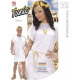 Mens WHITE Toga Tunic Costume for Roman Greek Goddess Caesar Fancy Dress Outfit