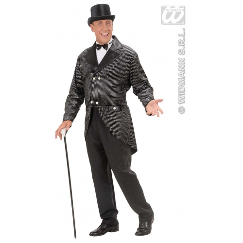 Mens TAILCOAT GLITTER Accessory for Circus Ringmaster Ringleader Fancy Dress