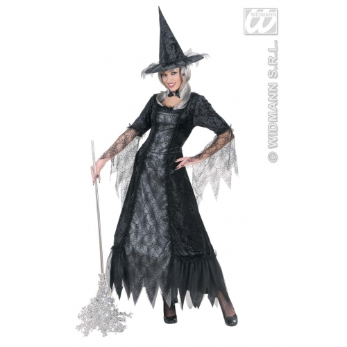 Ladies SPIDERWEB WITCH COSTUME Decoration for Spider Halloween Witch Party