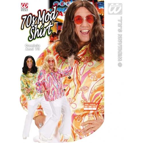 Mens 70s MOD SHIRT Accessory for 70s Disco Hippie Fancy Dress