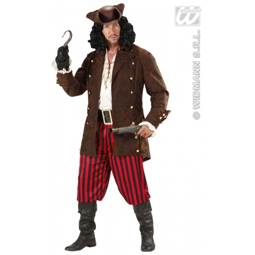 Mens PIRATE COATS Costume Buccaneer Sailor Jack Blackbeard Fancy Dress