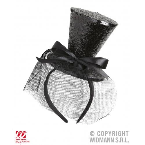 MINI CLOWN TOP HAT (headband) SFX for Circus FunFair Parade Cosmetics