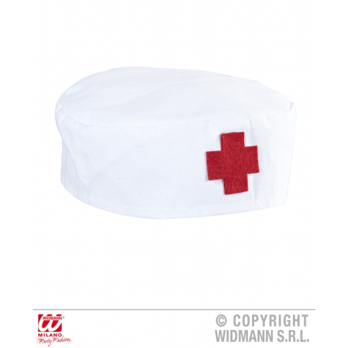 NURSE HAT ROUND Accessory for Hospital Carry On Surgeon Fancy Dress