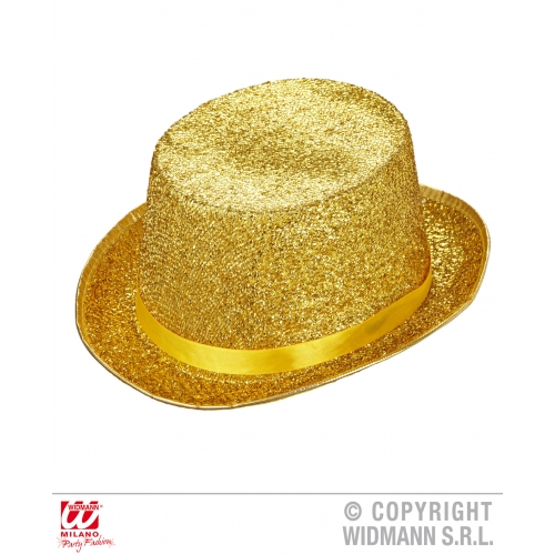 ENTERTAINER TOP HAT WITH SEQUIN Accessory for Circus Hollywood Show Fancy Dress