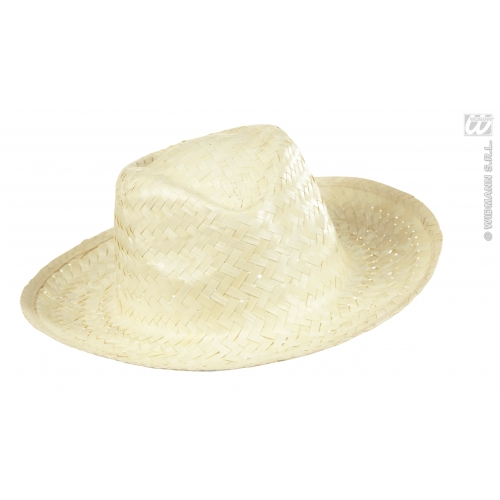 COWBOY HAT STRAW Accessory for American Wild West & Indians Fancy Dress