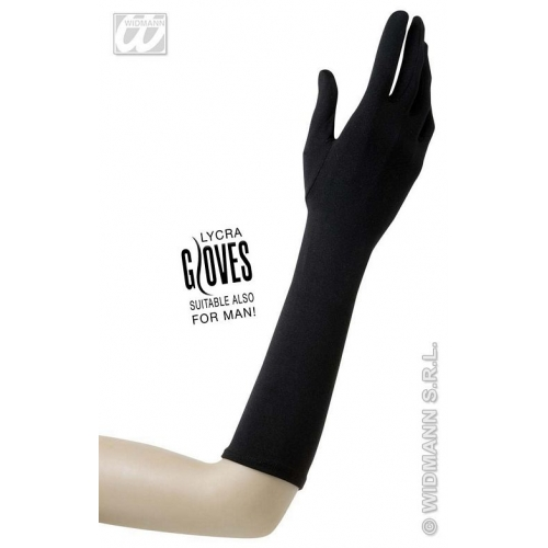 Ladies 40s 50s GLOVES LYCRA 37cm Accessory for 40s WWII Fourties Fancy Dress