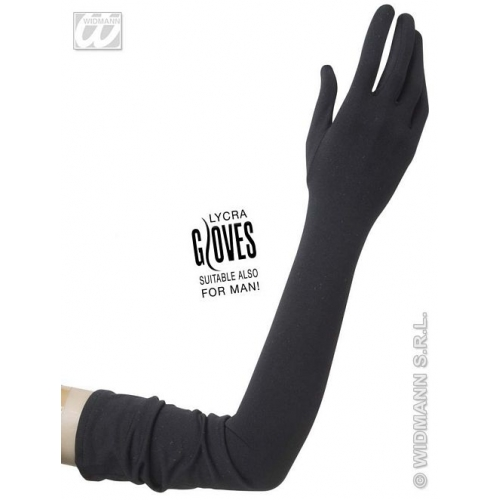 Ladies LYCRA 40s 50s GLOVES 60cm Accessory for 40s WWII Fourties Fancy Dress