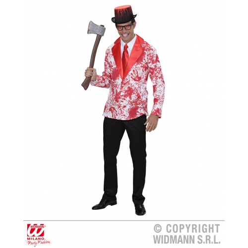 Mens BLOODY JACKET Accessory for Bleeding Wound Vampire Fancy Dress