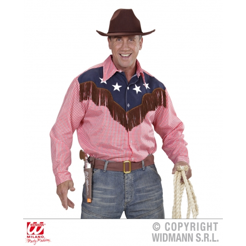 Mens RODEO COWBOY SHIRT Accessory for Cowboy Dallas Texan Sport Fancy Dress