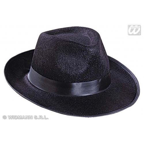 GANGSTER HAT FELT Accessory for 20s 30s Mobster Mob Criminal Fancy Dress